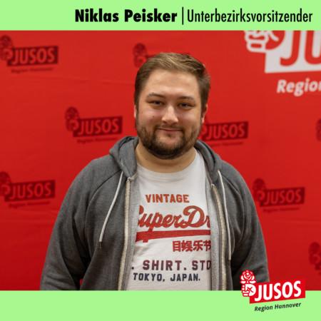 Niklas Peisker, Vorsitzender der Jusos Region Hannover